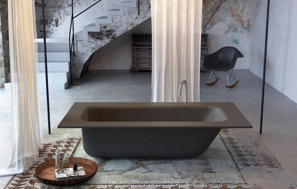Vasca Da Bagno Nubea : Vasca da bagno su piedi in composito concrete glass 1989