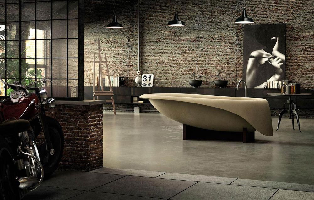 Vasca Da Bagno Glass Astor : Vasca da bagno su piedi ovale in composito concrete soft by