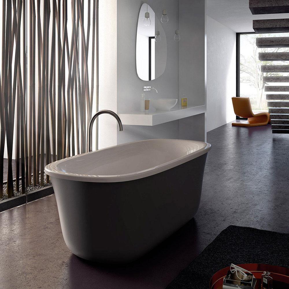 Vasca da bagno con piedi / ovale / in acrilico / per cromoterapia ...