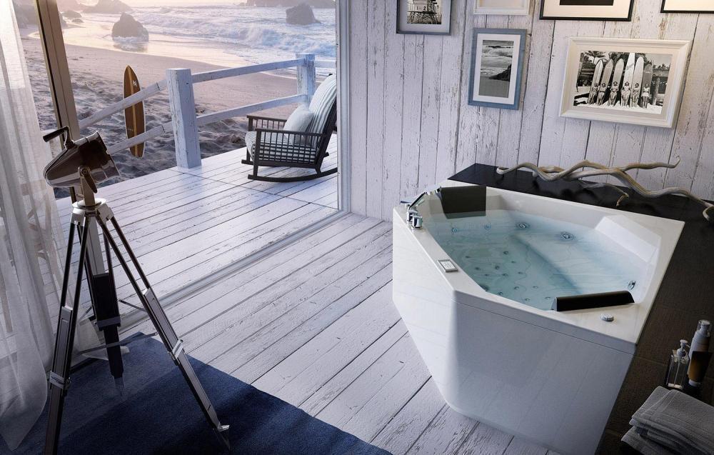 Vasca Da Bagno Con Pannelli : Vasca da bagno da appoggio in legno in acrilico per