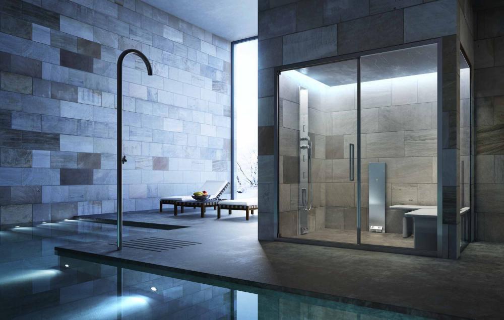 Bagno Di Vapore A Casa : Generatore di vapore per hammam noor glass