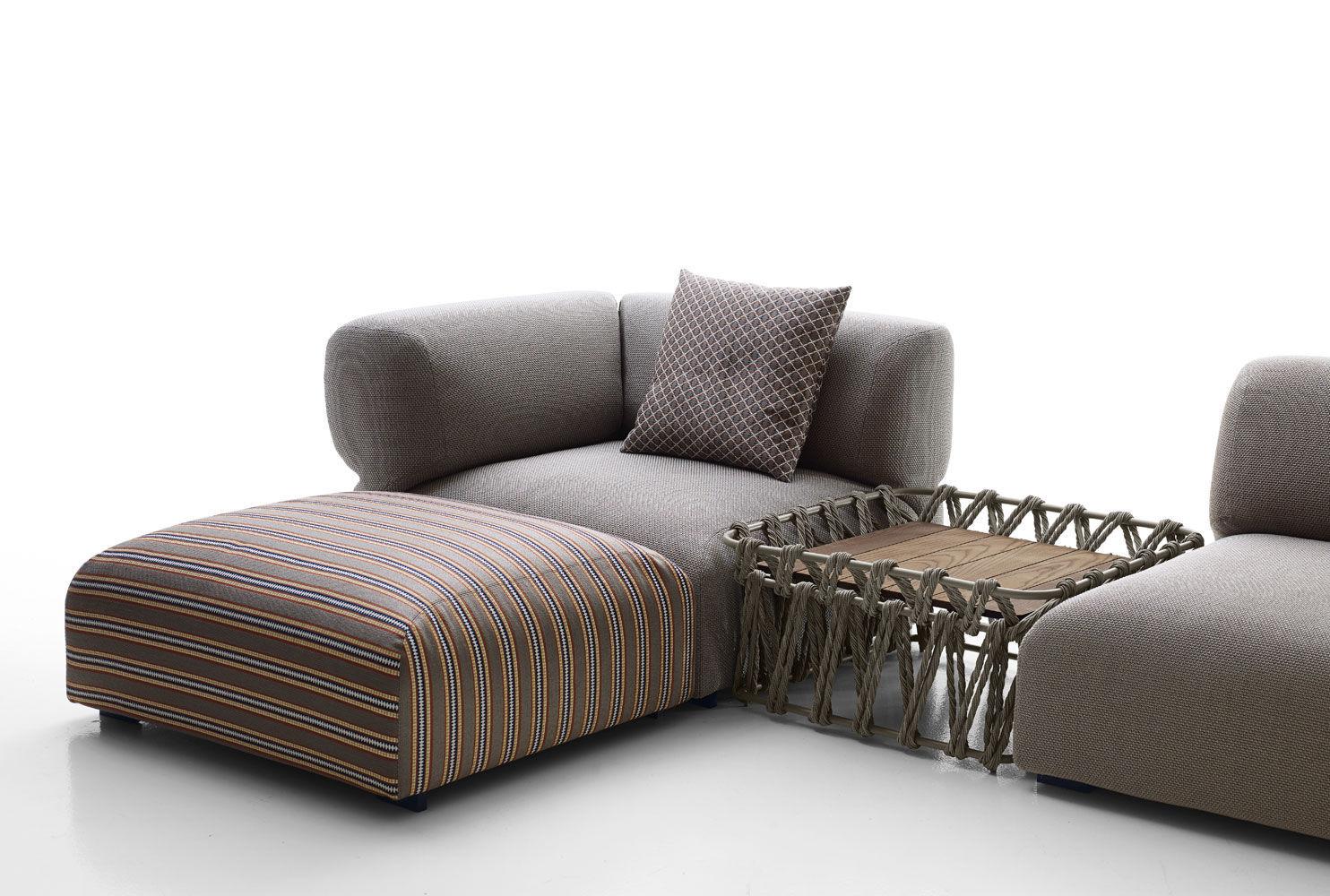 Divano modulare / moderno / da esterno / in tessuto - BUTTERFLY ...
