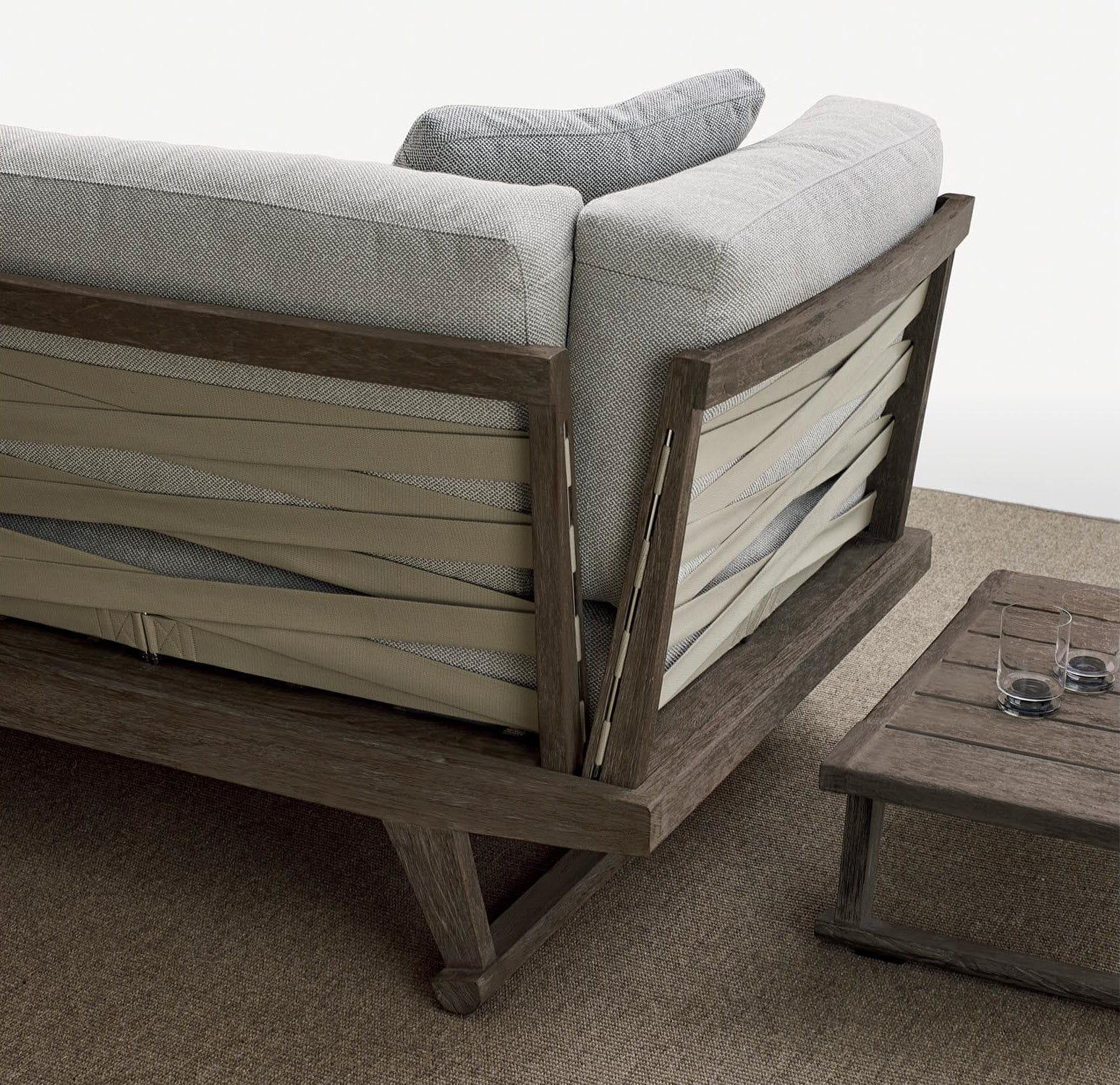 divano modulare / moderno / da giardino / in teak - gio - b&b italia