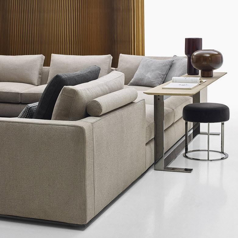 Divano modulare / moderno / in pelle / in tessuto - RICHARD - B&B Italia