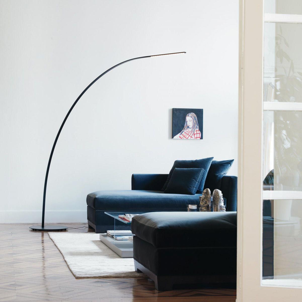 Lampada da terra / design originale / in fibra di carbonio / ad arco ...