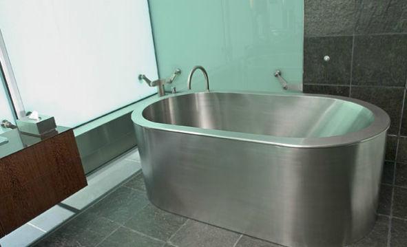 Vasca Da Bagno Metallo : Vasca da bagno da appoggio ovale in acciaio inossidabile neo