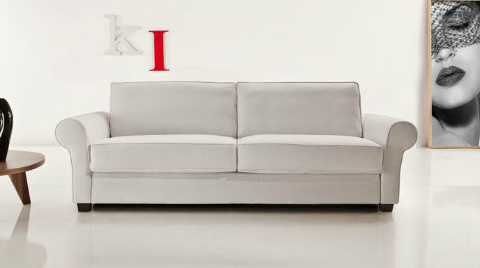 Divano letto / classico / in pelle / in tessuto - 2600 ARTHUR by ...