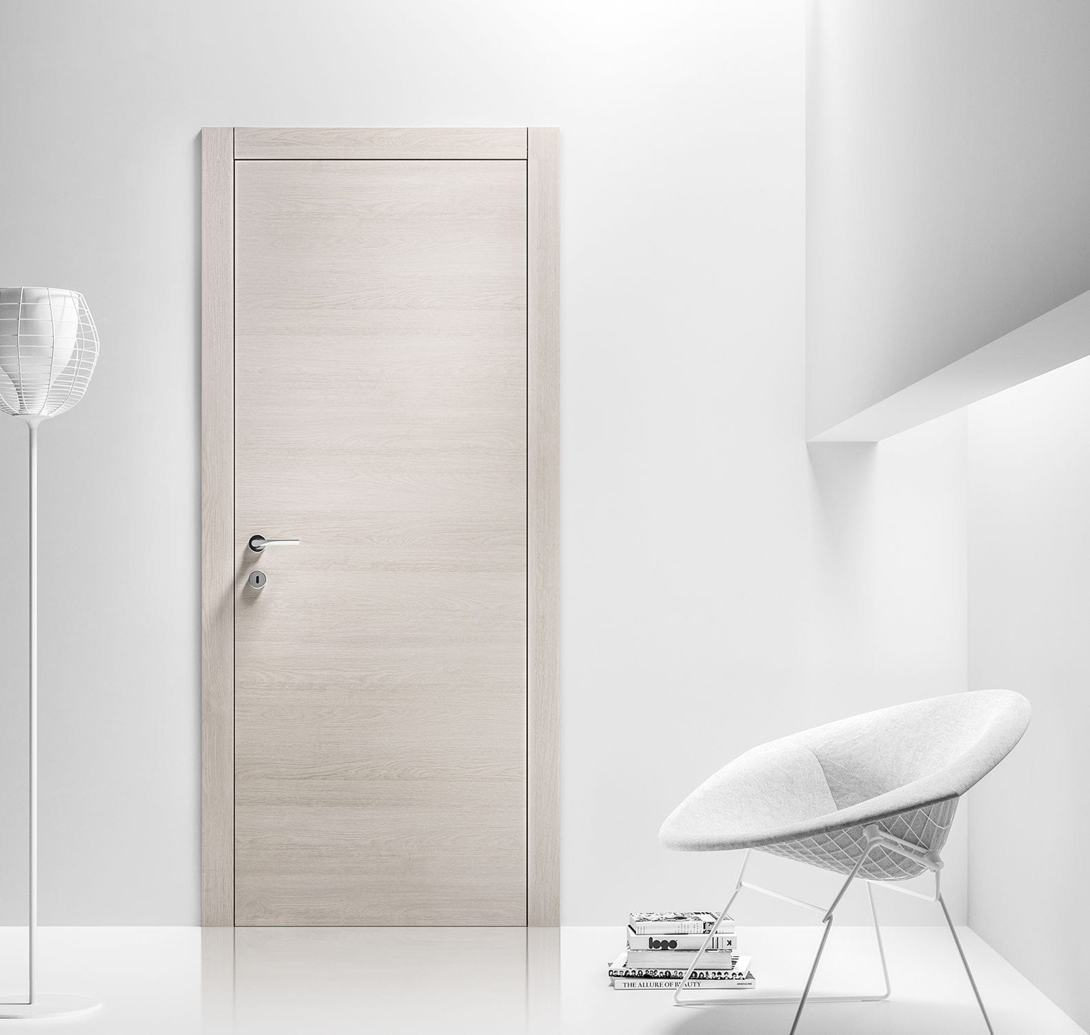 Porta da interni / battente / in laminato - LOGICA - FerreroLegno