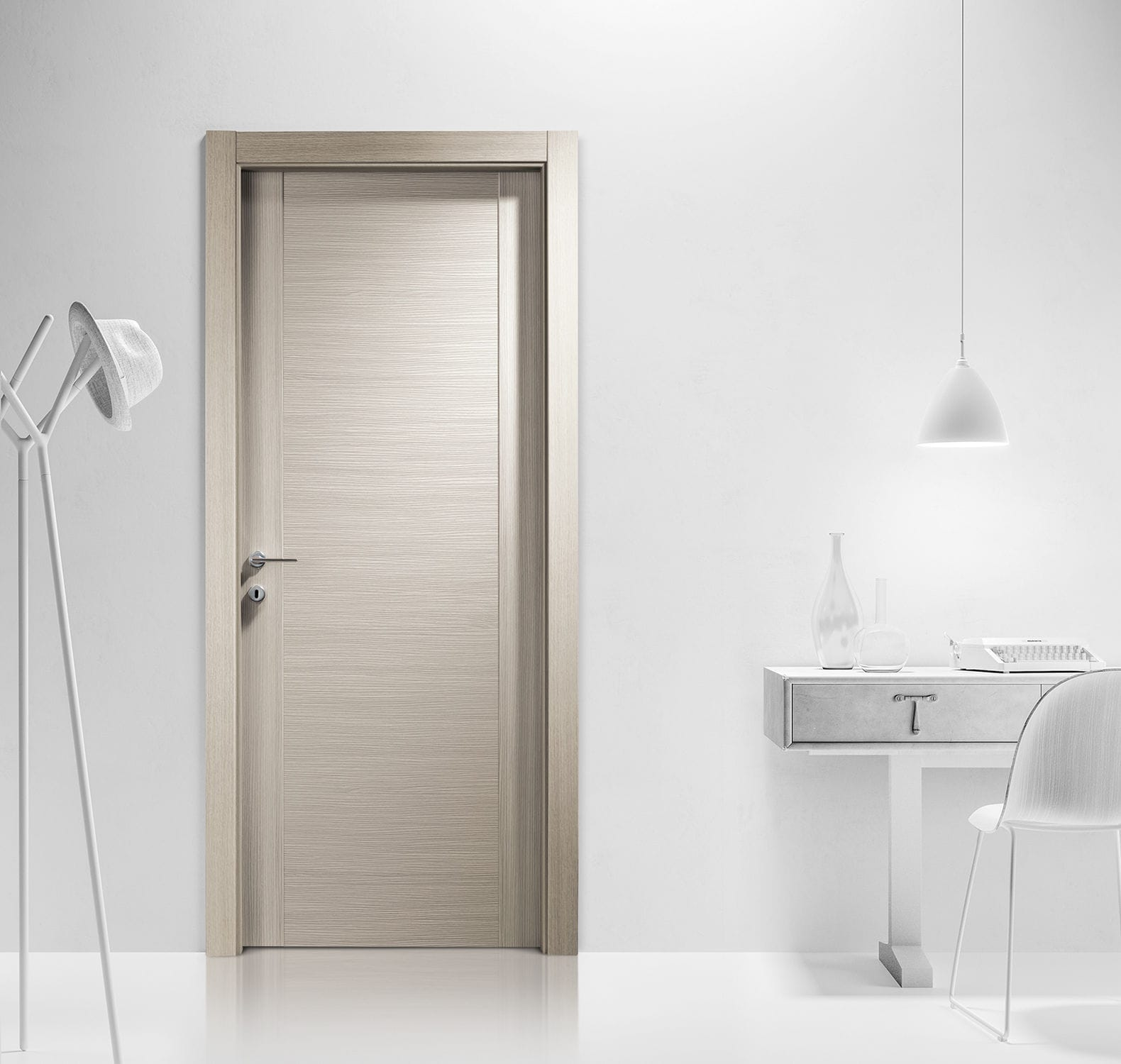 Porta da interni / battente / in legno / in laminato - AREA ...