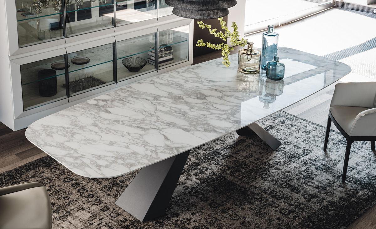 Tavolo moderno / in acciaio inossidabile / in acciaio laccato / in ...