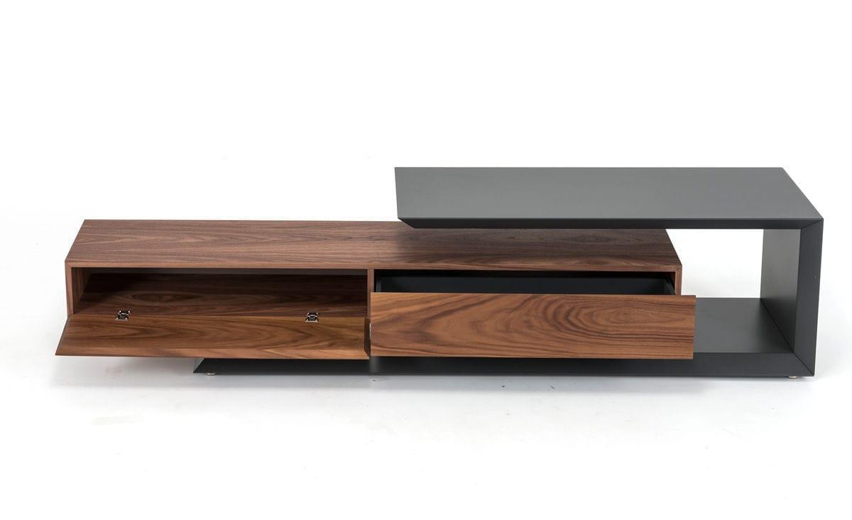 mobiletti porta tv: mobile porta tv basso classico in finitura ... - Mobili Moderni In Noce