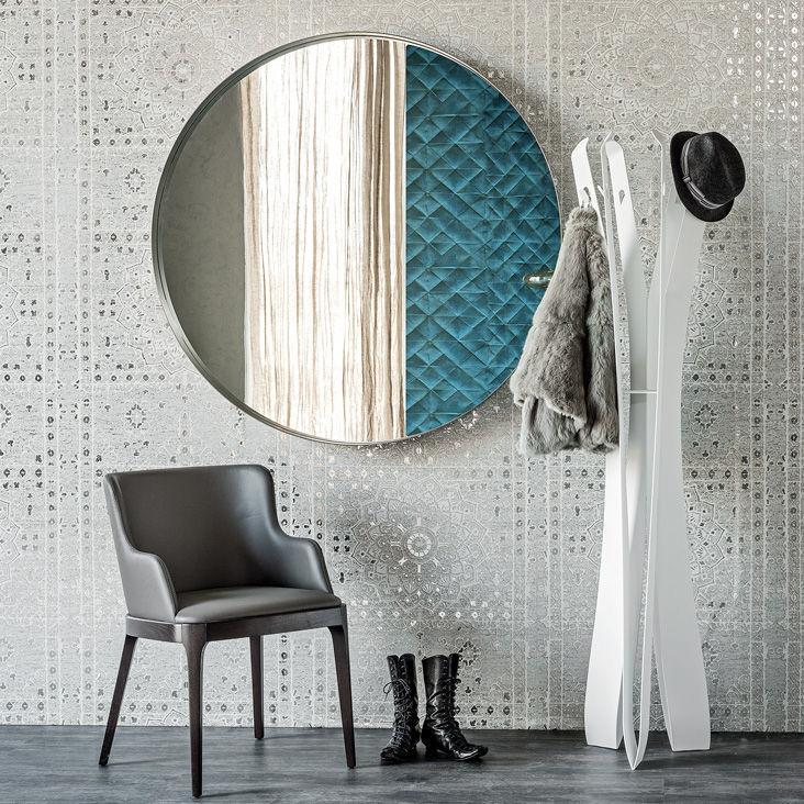Specchio a muro / moderno / tondo / in acciaio - WISH - cattelan italia