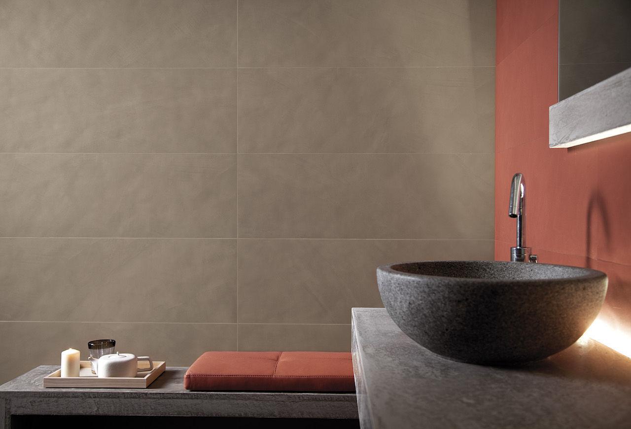 Piastrella da bagno da parete in gres porcellanato a tinta
