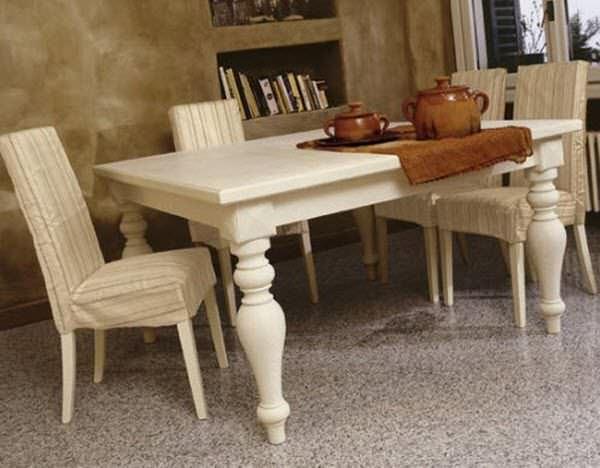 Tavoli Da Cucina Classici.Tavolo Da Pranzo Classico In Legno Rettangolare T0122
