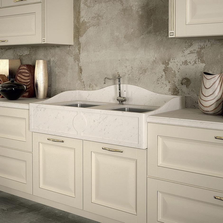 Cucina classica / in marmo / in legno / con isola - DERUTA by ...