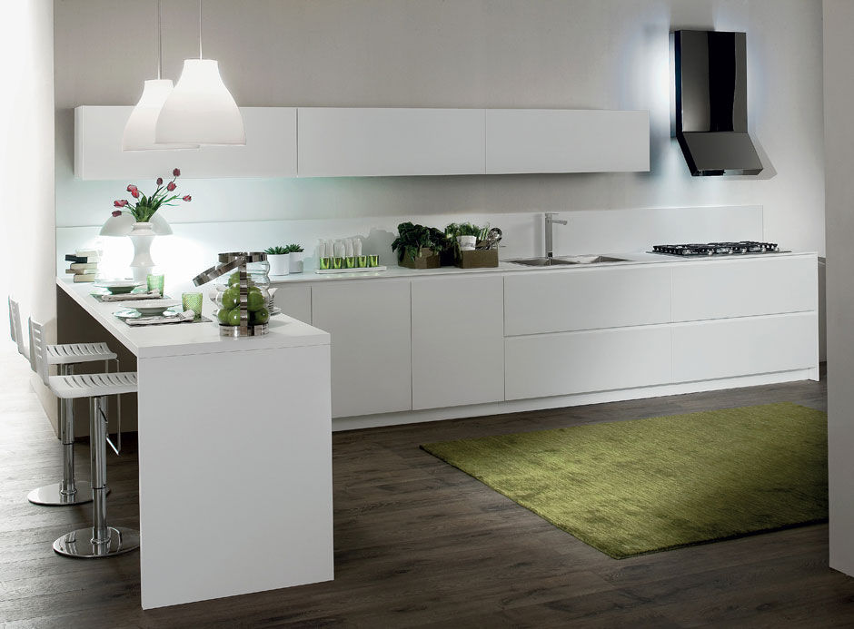 Cucina moderna / in legno / laccata / opaca - CRETA FLUTE by ...
