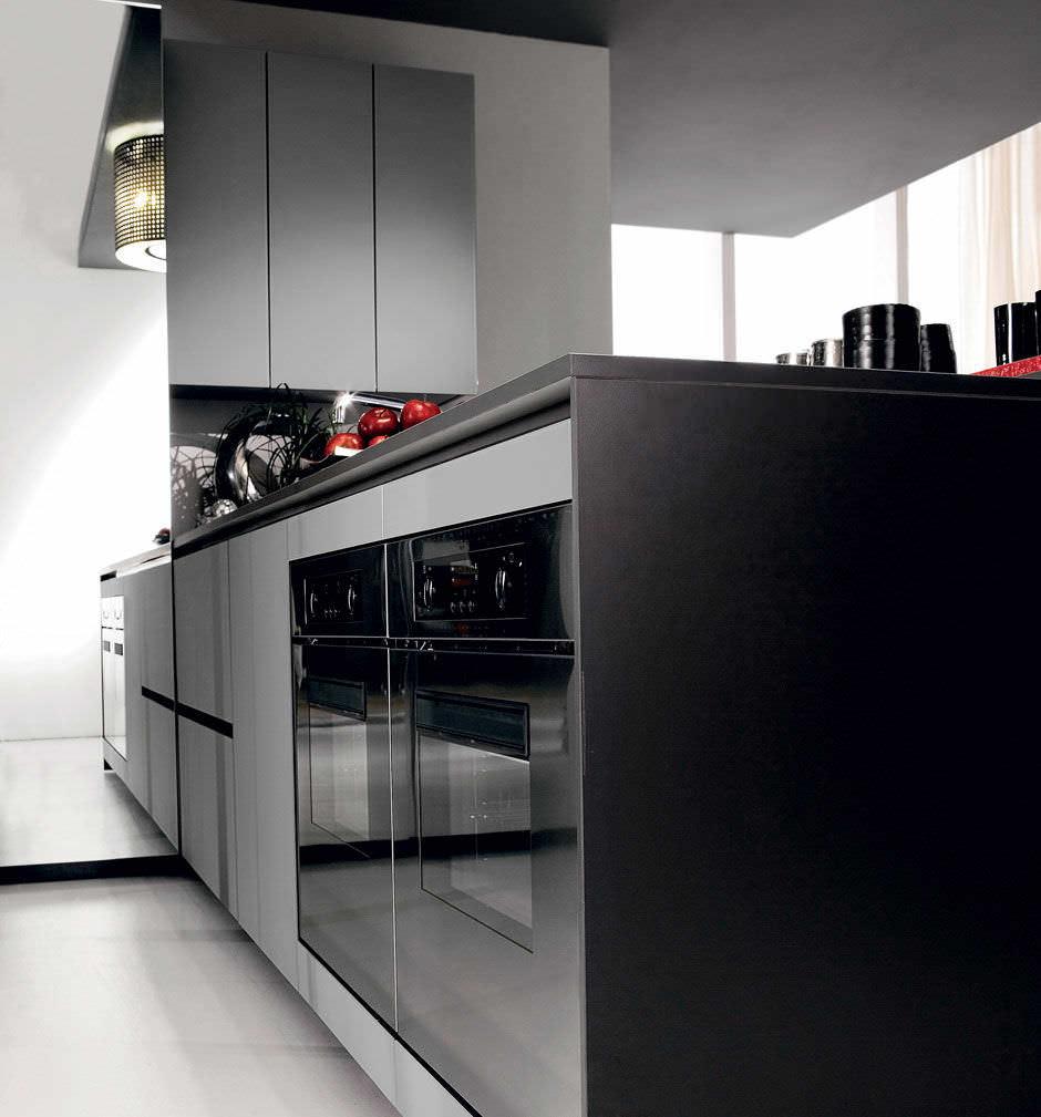 Cucina moderna / in legno / con isola / laccata - CRETA FLUTE by ...