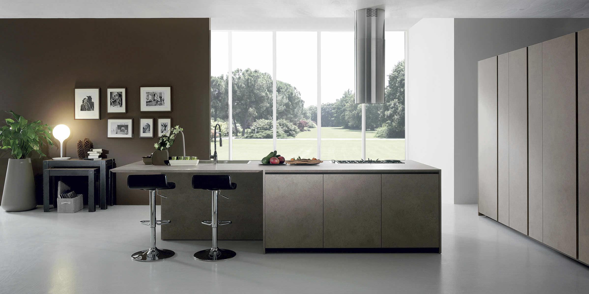 Cucina moderna / in laminato / con isola - CRETA CORNER by Centro ...