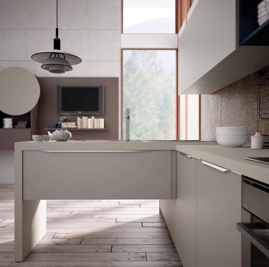 Cucina moderna / in legno / laccata - VALENCIA by Centro Ricerca e ...