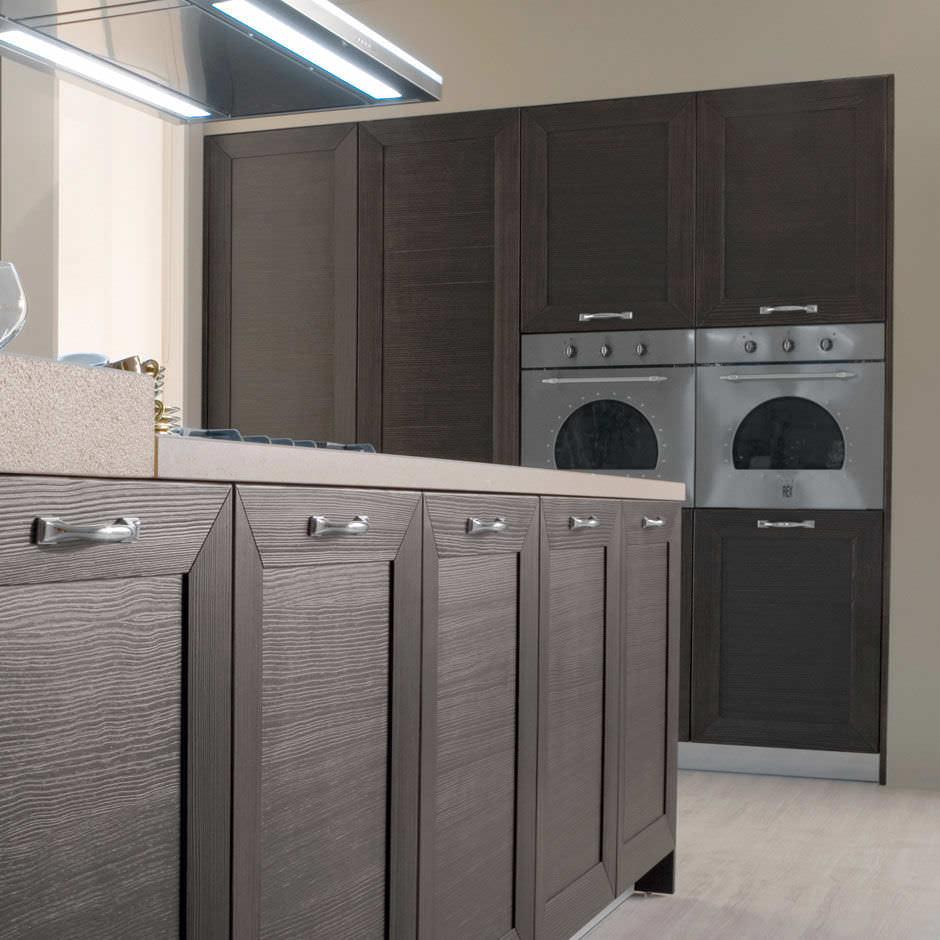 Cucina moderna / in legno / con isola / a U - ISCHIA by Centro ...