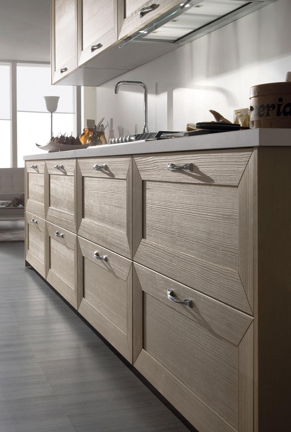 Cucina moderna / impiallacciata in legno / in legno - ISCHIA by ...