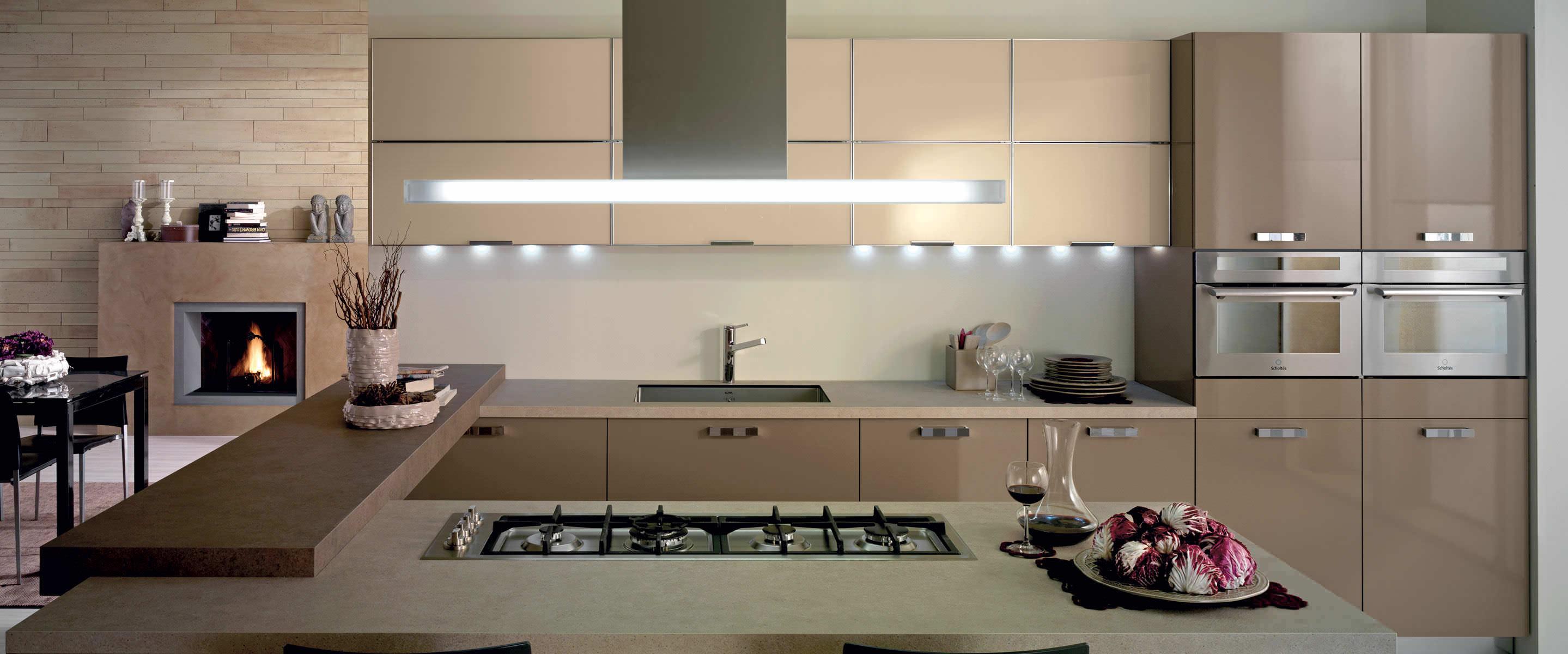 Cucina moderna / in legno / con isola / laccata - CHIA by Centro ...