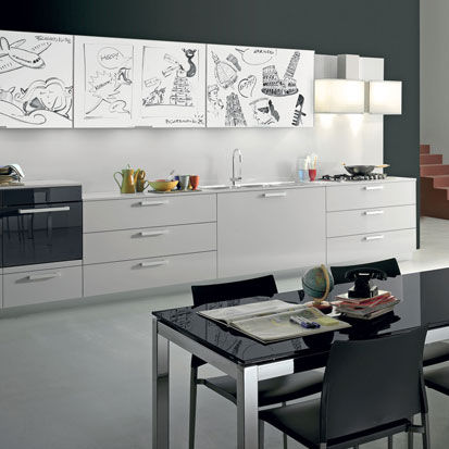 Cucina moderna / in legno / laccata / lucida - CHIA by Centro ...