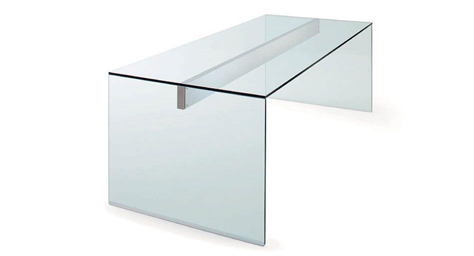 Scrivania Ufficio Vetro E Acciaio : Scrivania in alluminio in acciaio inox in vetro moderna