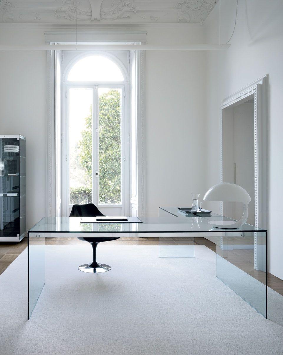 Scrivania in alluminio / in acciaio inox / in vetro / moderna ...