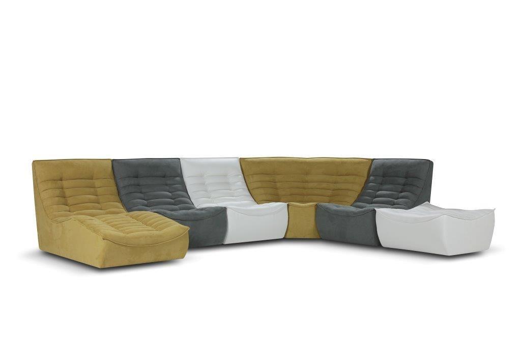 Divano modulare / design originale / in tessuto / 5 posti - FOX TROT ...