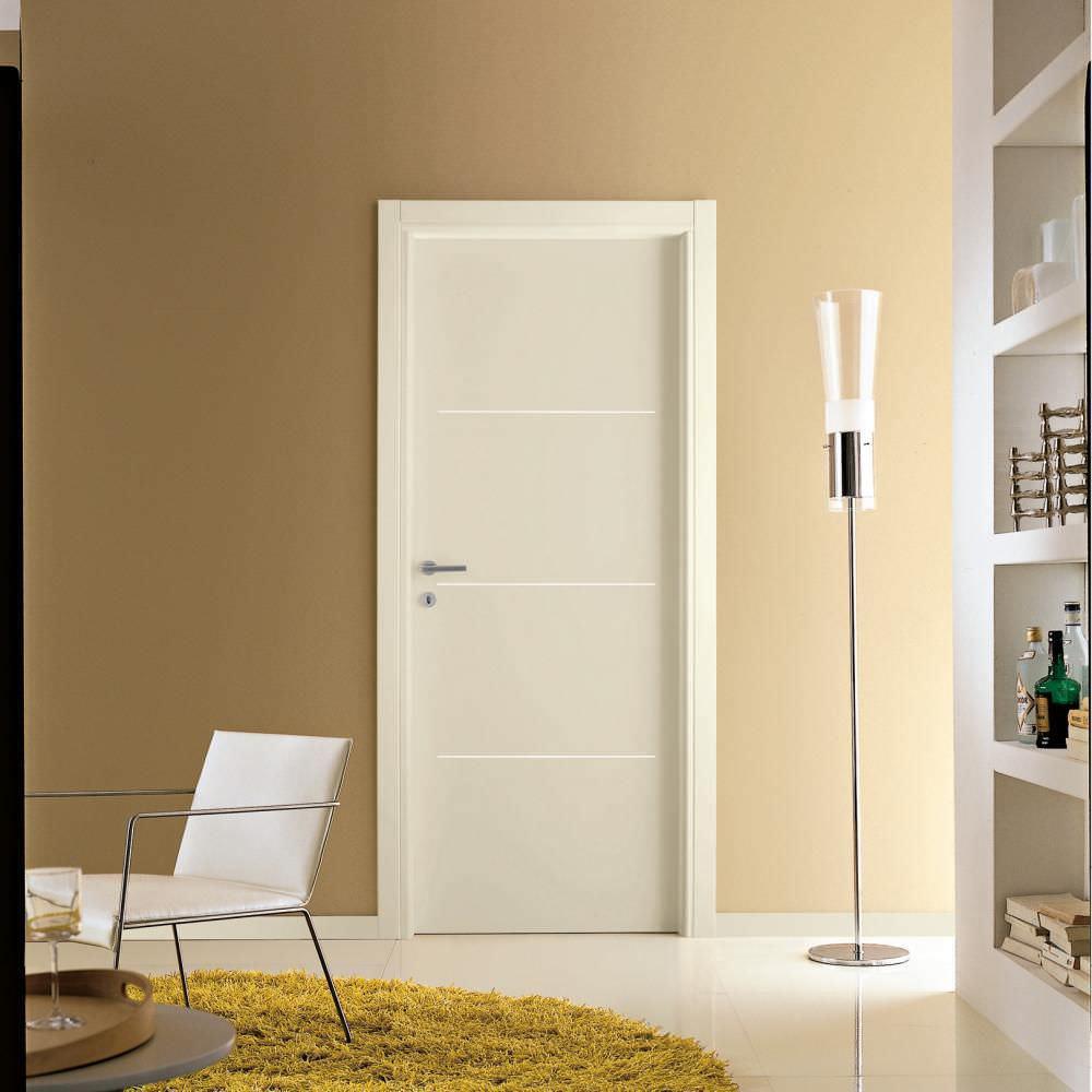 Porta da interni / battente / in legno / in alluminio - MEDUSA : M ...