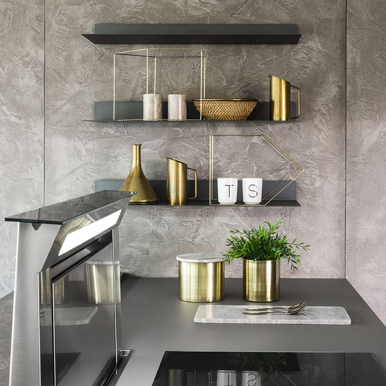 Mensola / moderno / in lamiera d\'acciaio / per cucina - SKY - Zecchinon