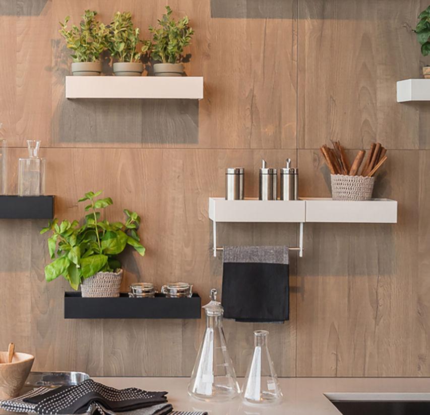 Mensola / moderno / in metallo / per cucina - EASY - Zecchinon