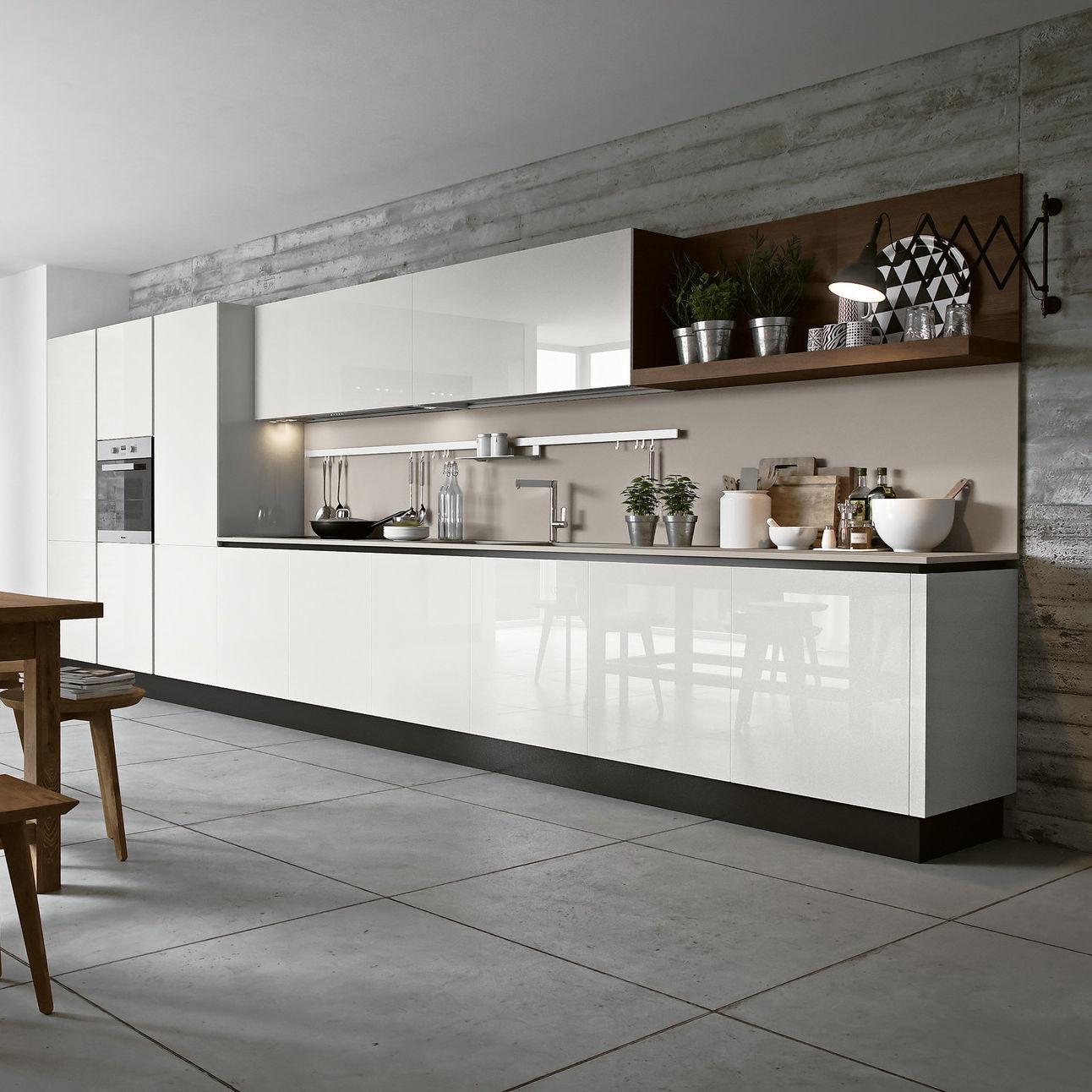 Cucina moderna / in frassino / in vetro / laccata - NEW NICE 1.0 ...