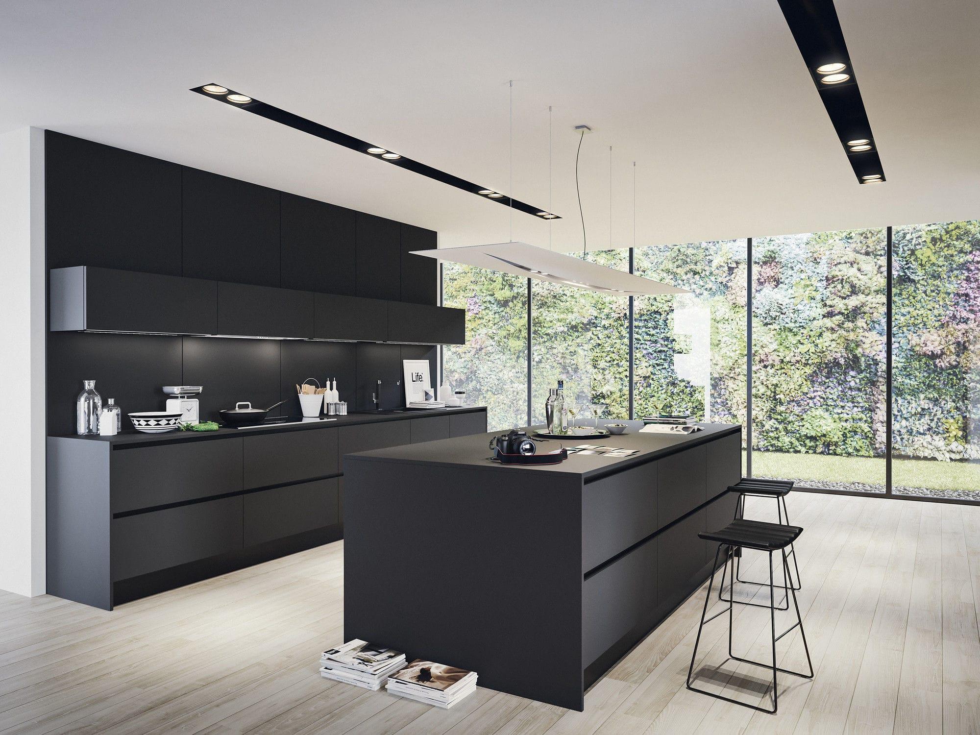 Cucina moderna / in laminato / con isola / opaca - LAMINA 1.0 ...
