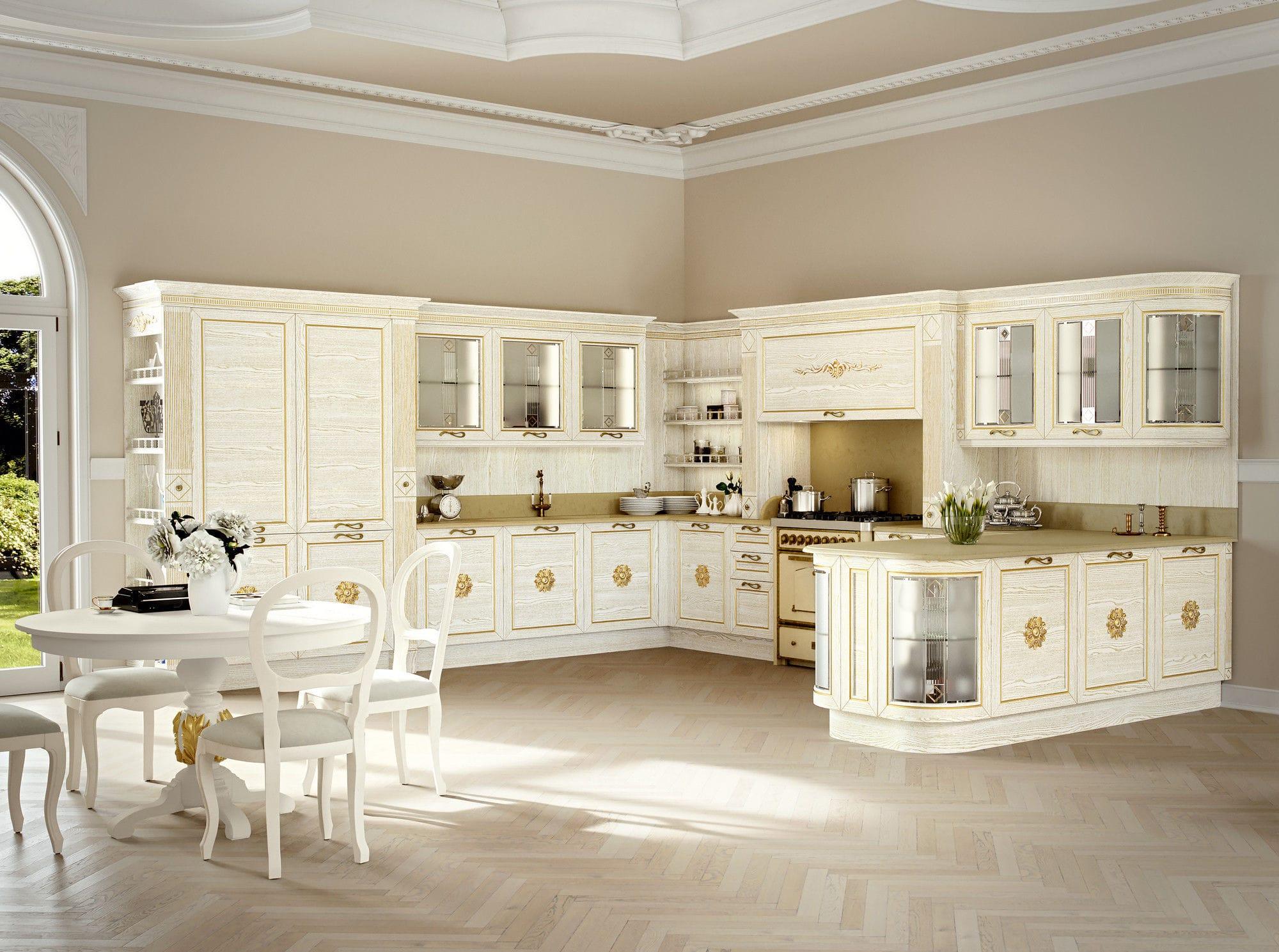 Cucina classica / in frassino / in marmo / a U - CA\'NOVA 2.0 ...