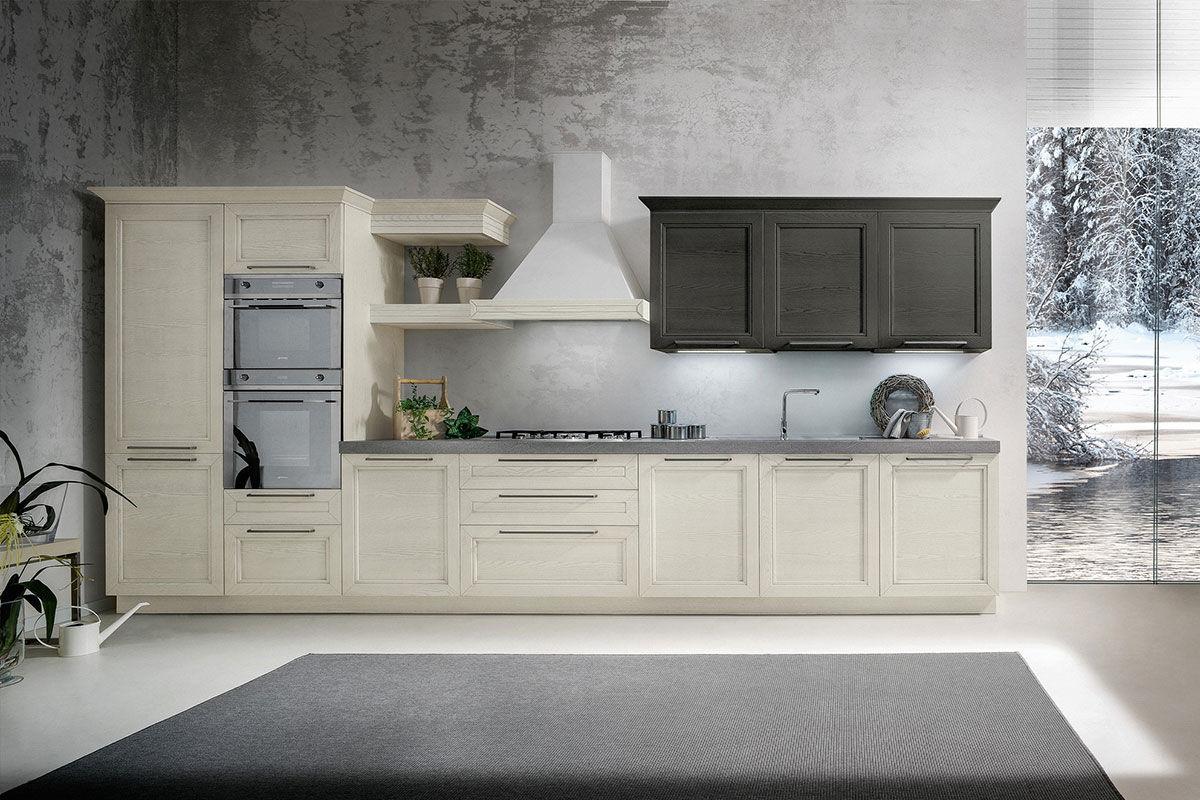 Cucina moderna / in quercia / opaca / con impugnature - GINEVRA 3.0 ...