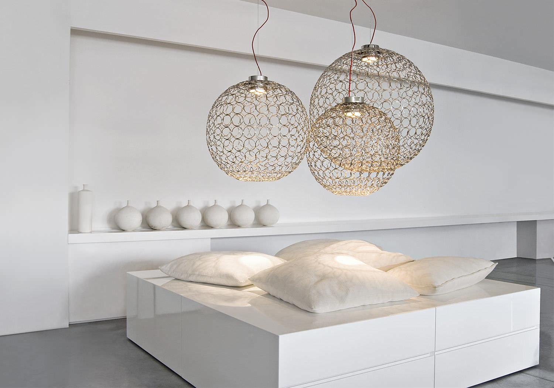 Lampade A Sospensione Design : Lampada a sospensione design originale in metallo alogena