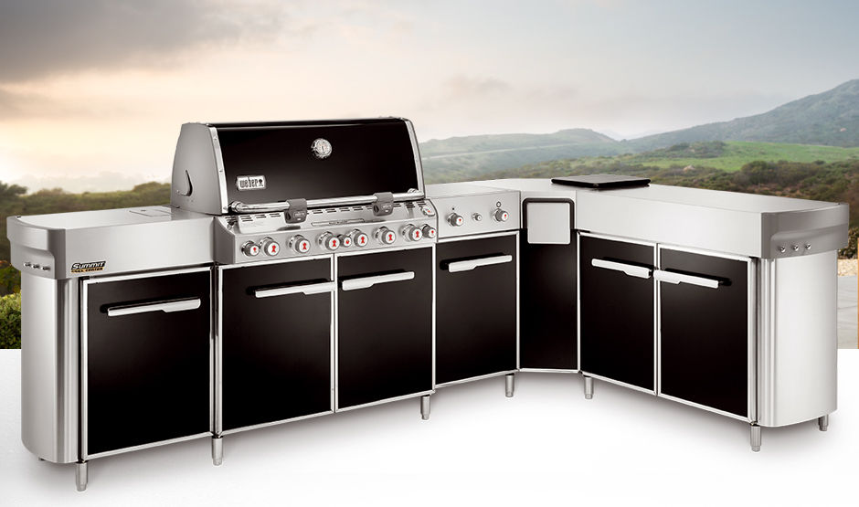 Cucina in acciaio / da esterno / con impugnature - SUMMIT® - Weber USA