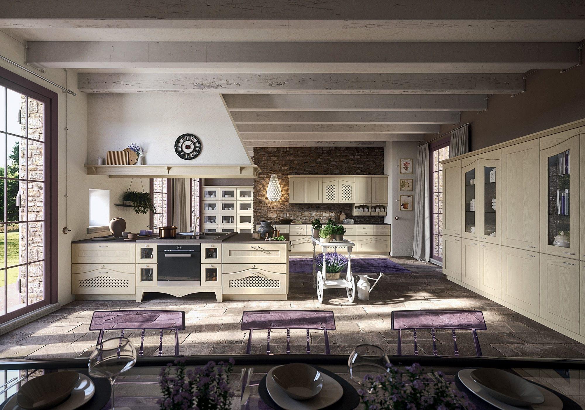 Cucina classica / in legno / con impugnature - DUCALE - Arrital