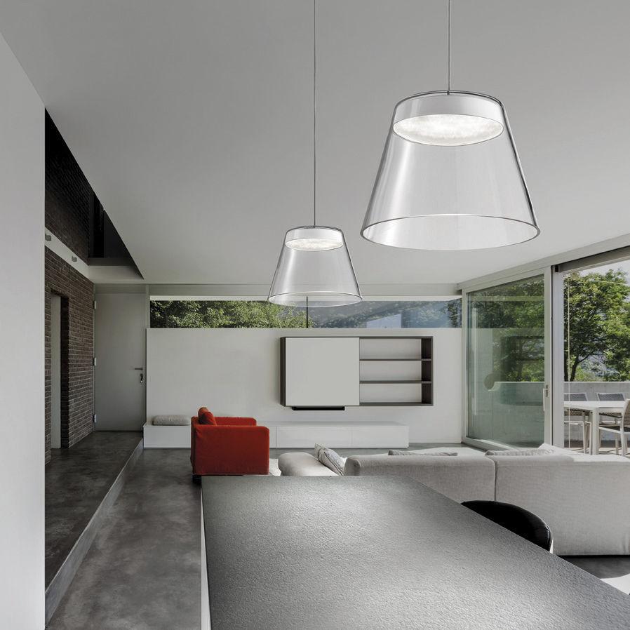 Lampada a sospensione / moderna / in vetro / in metallo ...