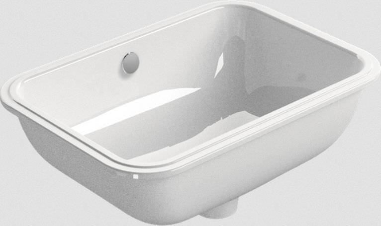 Vasca Da Bagno Incasso Ceramica : Lavabo da incasso rettangolare in ceramica moderno pura