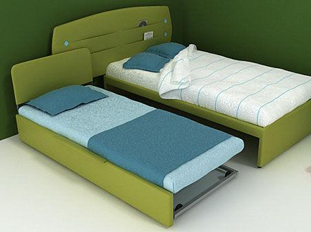 Letto con letto estraibile / singolo / moderno / per bambini ...