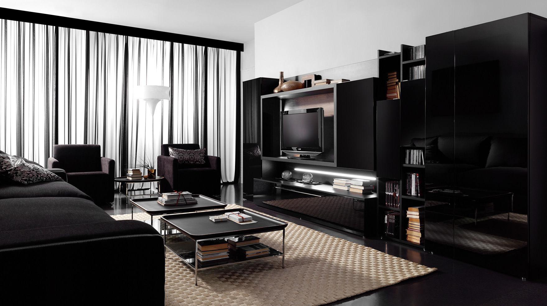Parete attrezzata TV moderno / in legno / in legno laccato - EFE ...