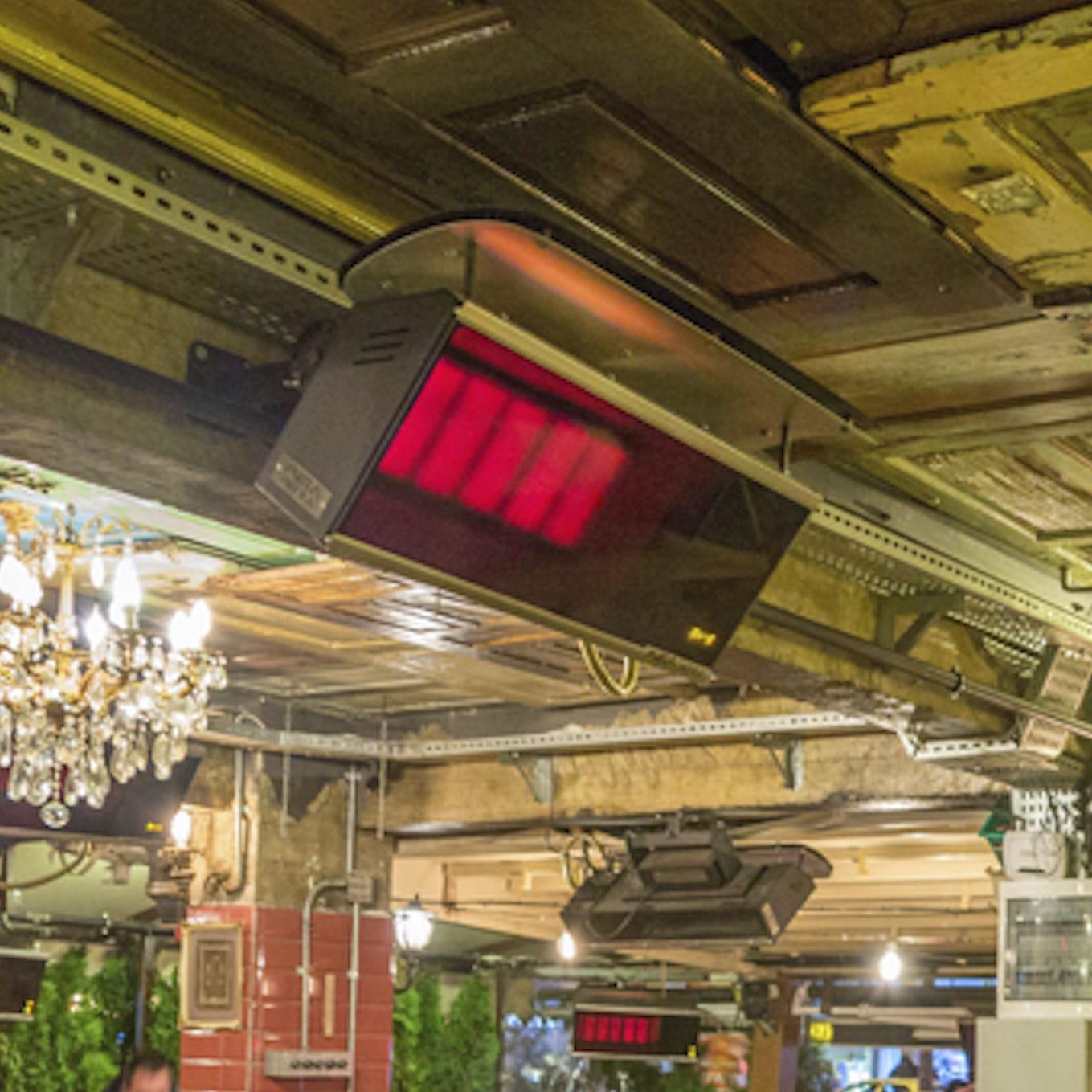 stufa ad infrarossi da soffitto / da parete / a gas