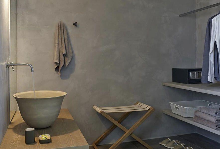 Appendiabiti da parete moderno in calcestruzzo multiplo da