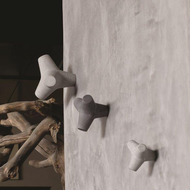 Appendiabiti da parete moderno / in calcestruzzo / multiplo / da ...