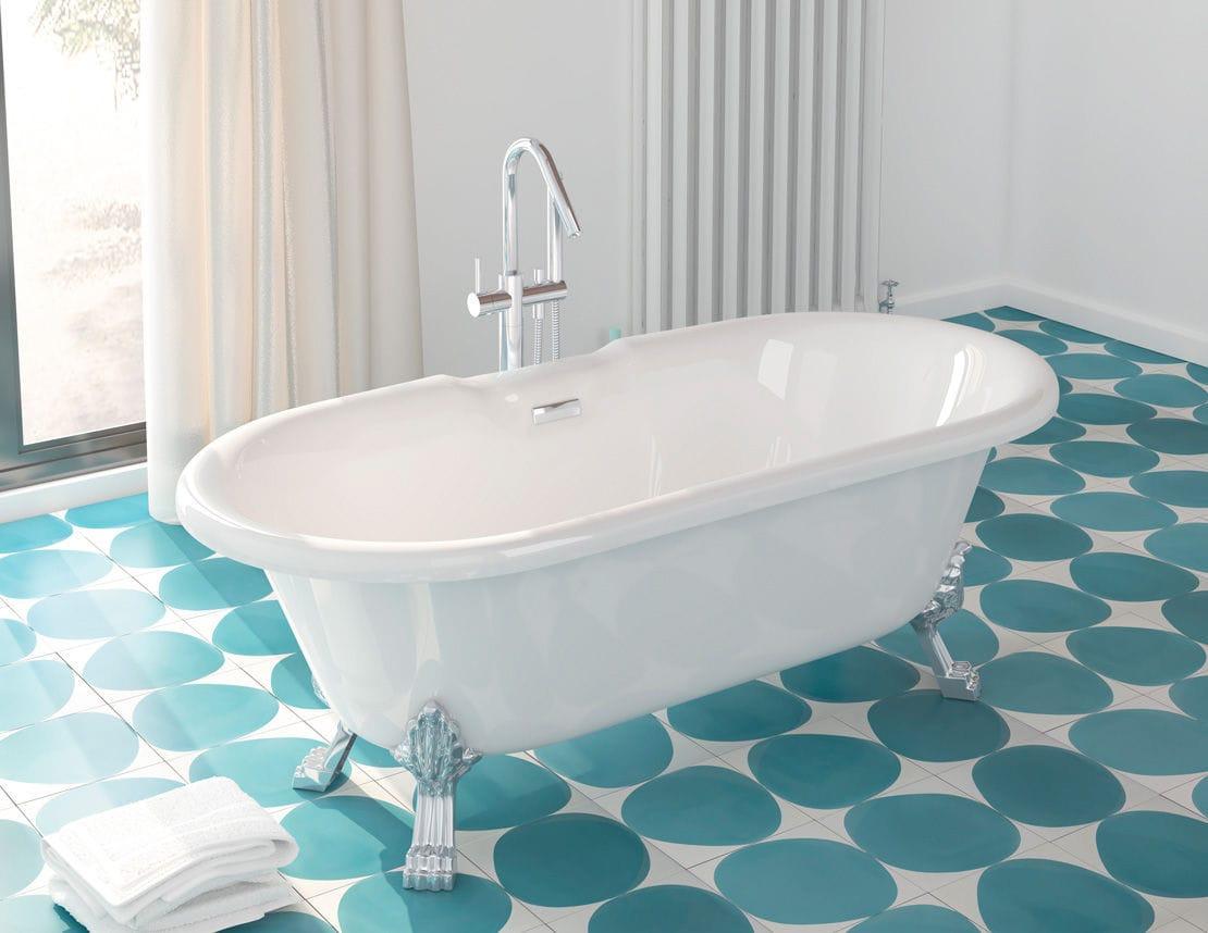 Vasca Da Bagno Vetro : Vasca da bagno su piedi ovale in fibra di vetro profonda