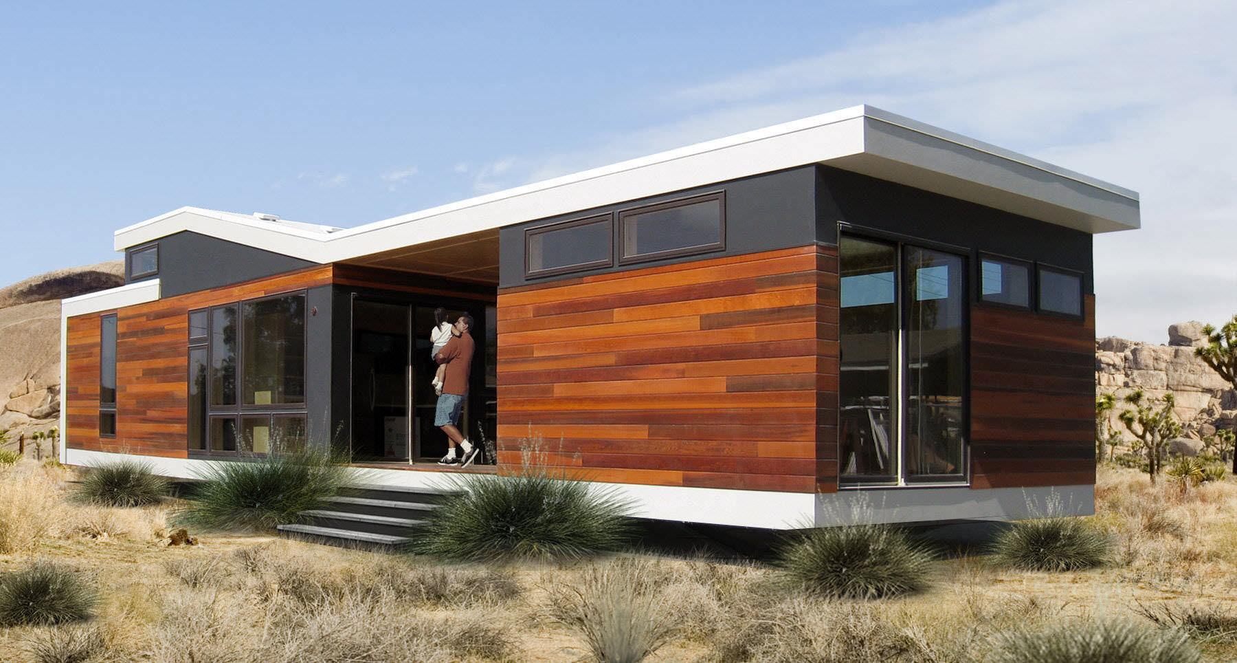 Casa Prefabbricata Design : Micro casa prefabbricata moderna in legno a un piano cali