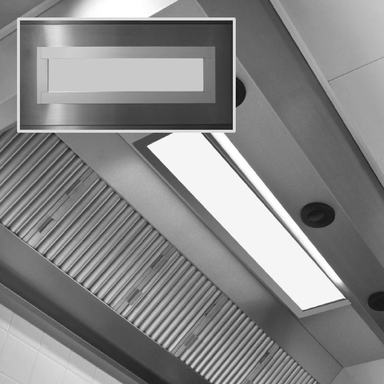 Luce ad incasso / LED / rettangolare / per cucina professionale - V ...